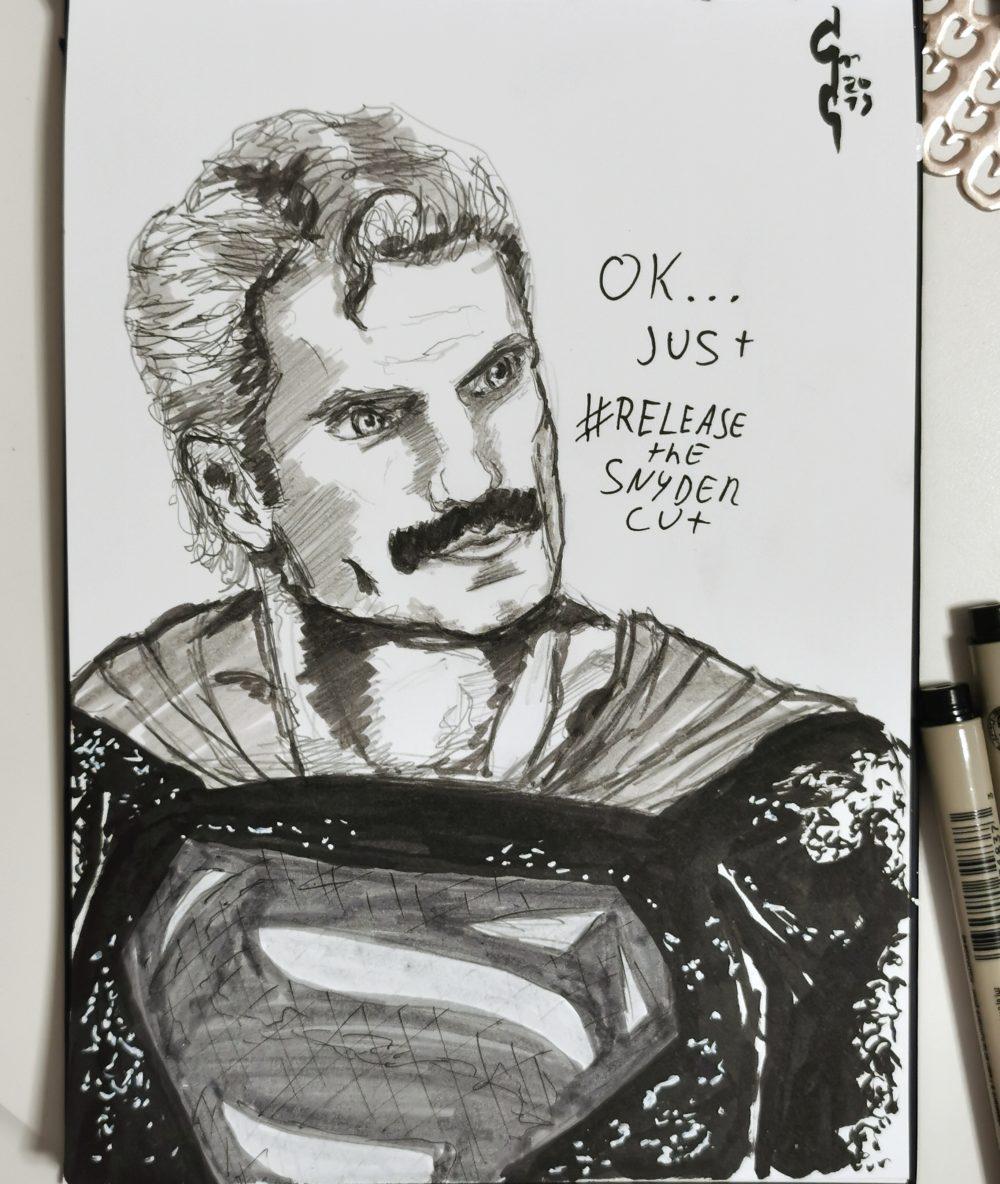 henry cavill sketch